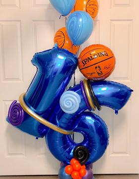 blue and orange birthday balloons Philadelphia